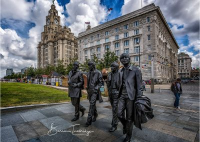 The Beatles and Liver Building